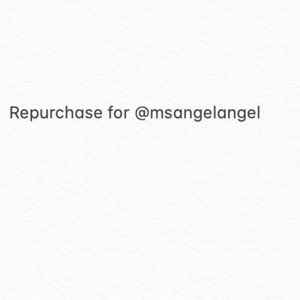 Repurchase for @msangelangel
